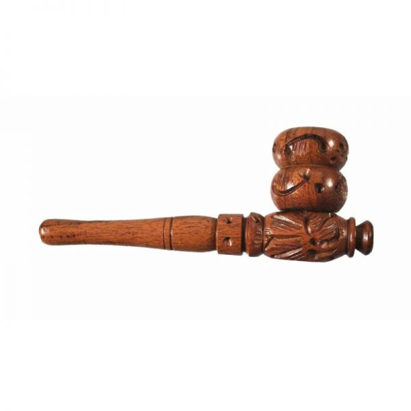 """4"""" CARVED ROSEWOOD PIPE"""