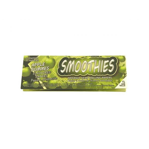 SMOOTHIES 1 1/4 ORGANIC HEMP GREEN APPLE FLAVORED ROLLING PAPERS