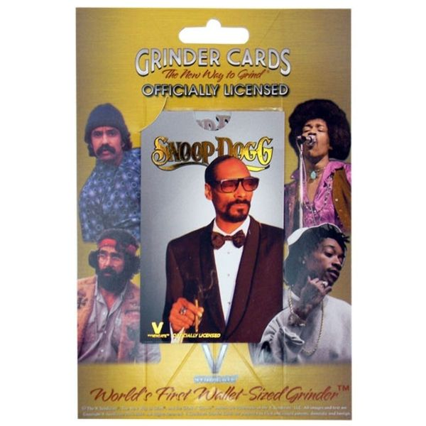 V SYNDICATE GRINDER CARD -  SNOOP DOGG SMOKING