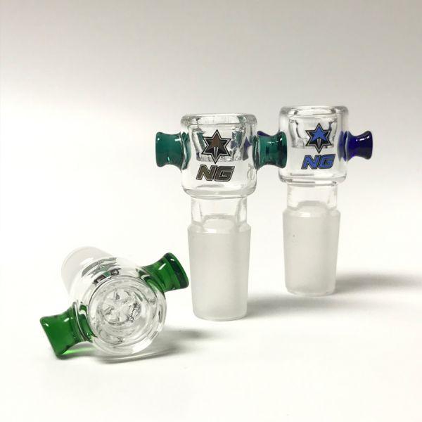NICE GLASS - HONEYCOMB BUCKET BOWL, 19mm