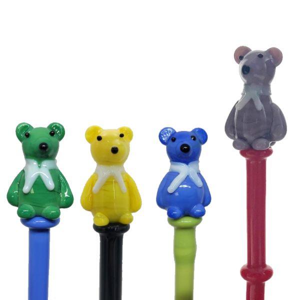 "5"" TEDDY BEAR GLASS DABBER"