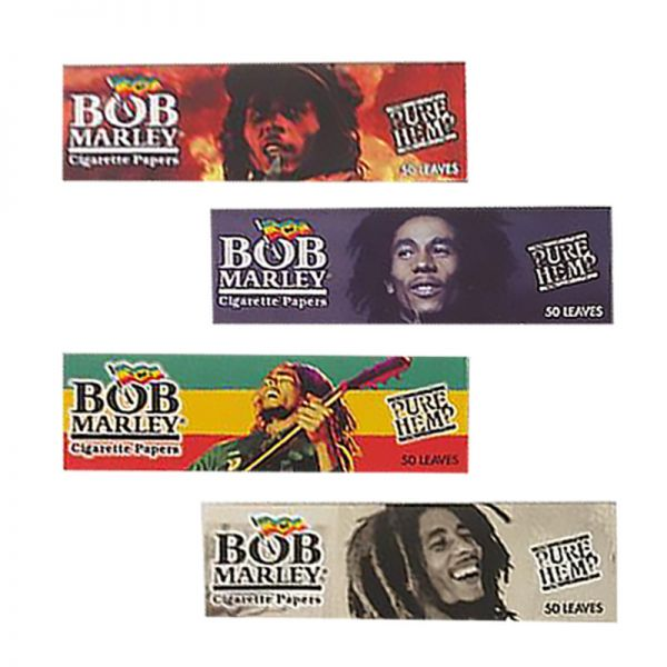 BOB MARLEY - PURE HEMP ROLLING PAPERS, 11/4 SIZE / PACK OF 50