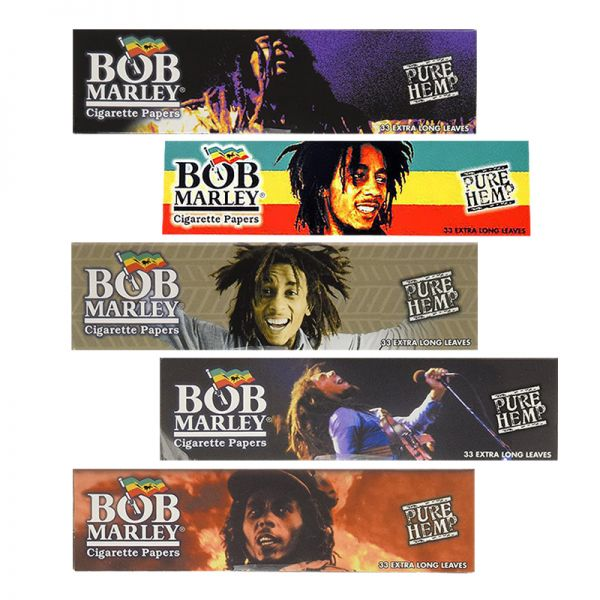 BOB MARLEY - PURE HEMP ROLLING PAPERS, KING SIZE / PACK OF 33