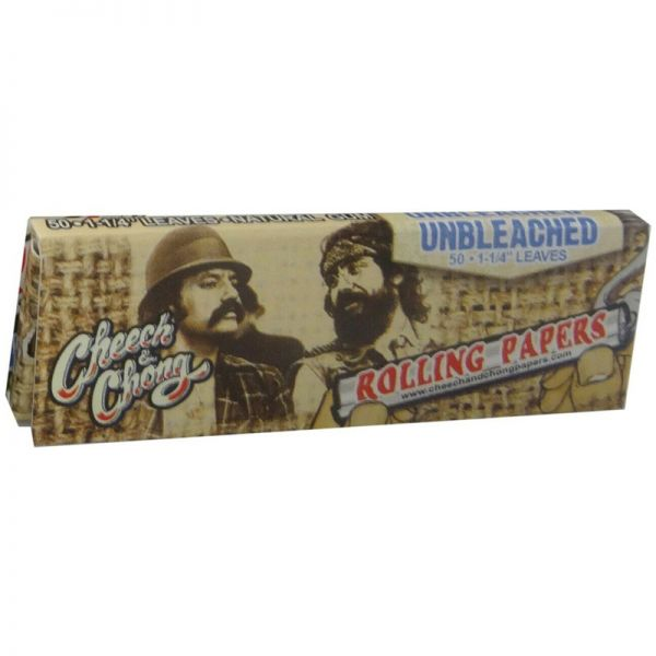 CHEECH & CHONG - UNBLEACHED ROLLING PAPERS, 11/4 SIZE / PACK OF 50