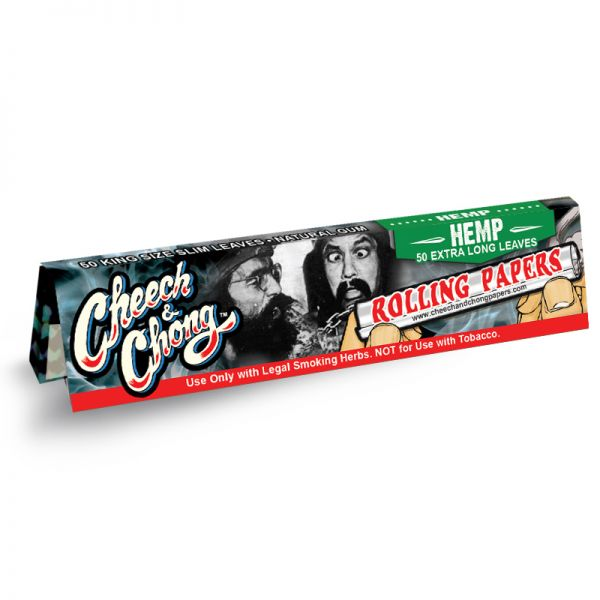 CHEECH & CHONG - HEMP ROLLING PAPERS, KING SIZE SLIM / PACK OF 50