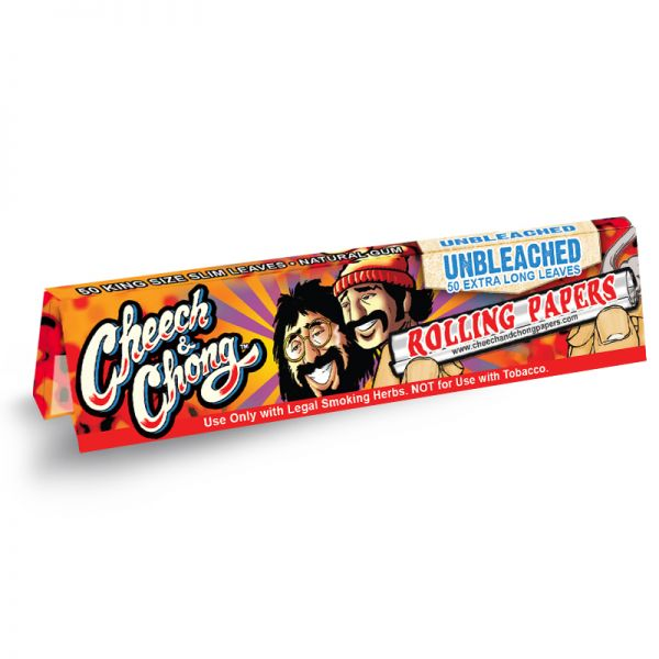 CHEECH & CHONG - UNBLEACHED ROLLING PAPERS, KING SIZE SLIM / PACK OF 50