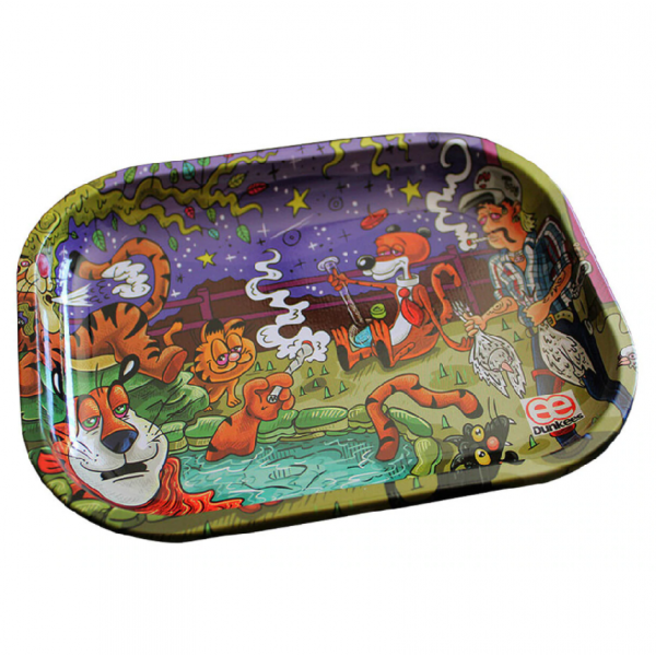 "Dunkees 5.5"" x 7.5"" Rolling Tray - King of Tigers"