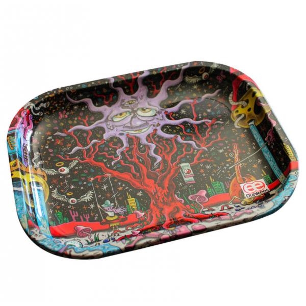 "Dunkees 5.5"" x 7.5"" Rolling Tray - Happy Tree"