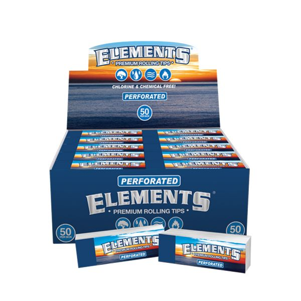 ELEMENTS - PERFORATED PAPER TIPS / PACK OF 50