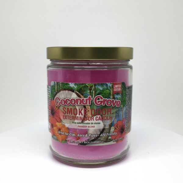 SMOKE ODOR - COCONUT GROVE CANDLE, JAR OF 13oz