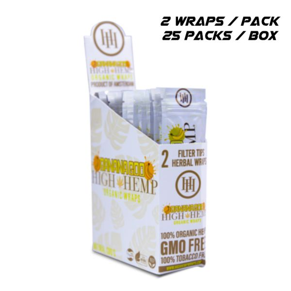 HIGH HEMP ORGANIC WRAPS - BANANAGOO / 25 PACKS