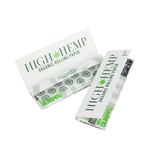 HIGH HEMP - ORGANIC ROLLING PAPERS, 1 1/4 SIZE / PACK OF 32