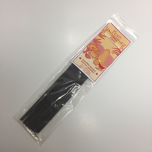 FLORE - AMBER / CANADIAN INCENSE / PACK OF 20 STICKS
