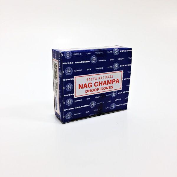 SATYA - NAG CHAMPA / INCENSE CONES, PACK OF 12