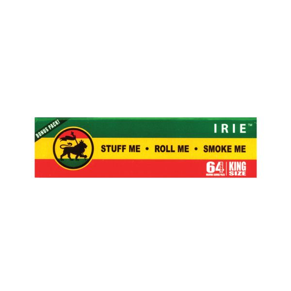 IRIE - EXTRA LIGHT HEMP ROLLING PAPERS, KING SIZE / PACK OF 64