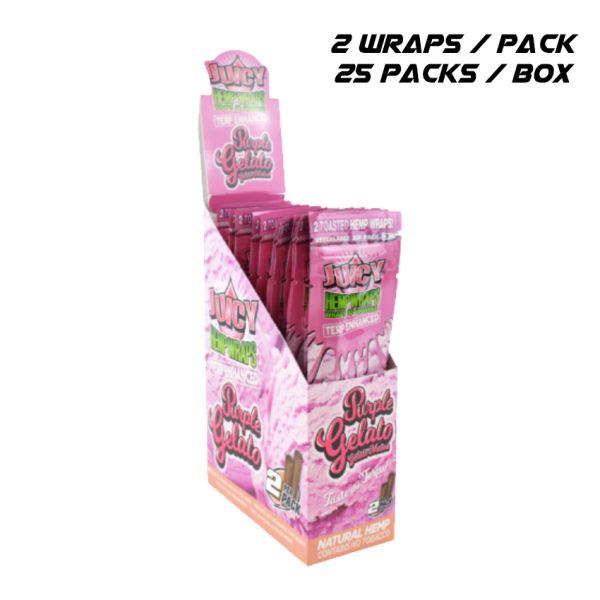 JUICY TERP ENHANCED HEMP WRAPS - PURPLE GELATO / 25 PACKS