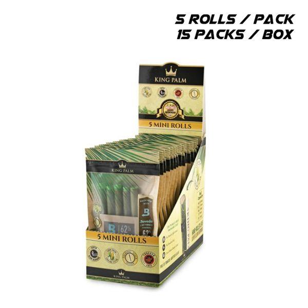 KING PALM - MINI ROLLS / 15 PACKS
