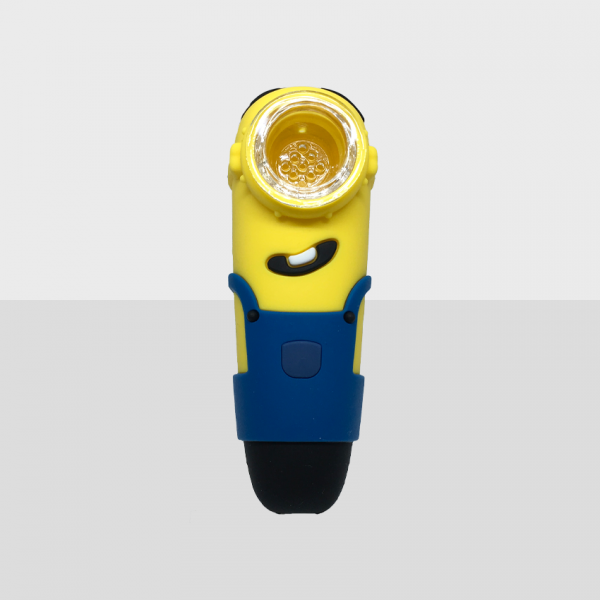 MINIONS - BPA-FREE SILICONE PIPE WITH GLASS BOWL