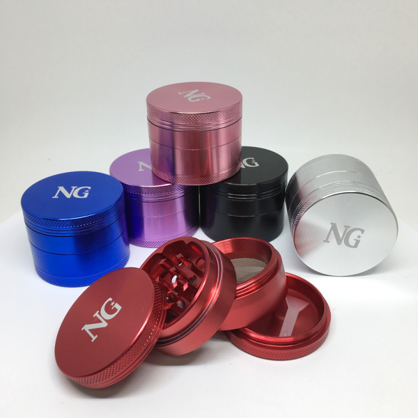 "NICE GLASS - 1.5"" ALUMINUM 4-PIECE GRINDER"