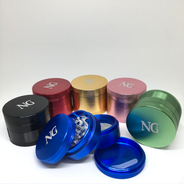 "NICE GLASS - 2.2"" ALUMINUM 4-PIECE GRINDER"
