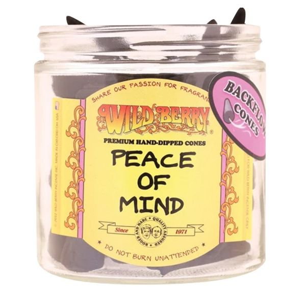 WILD BERRY BACKFLOW INCENSE CONES, PEACE OF MIND / PACK OF 25