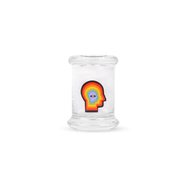 420 SCIENCE - POP-TOP MEDIUM GLASS JAR - RAINBOW MIND