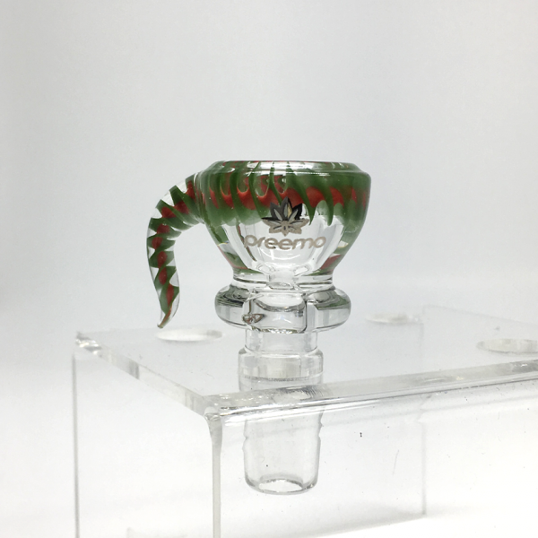 PREEMO - 14mm HELIX BOWL, GREEN-RED