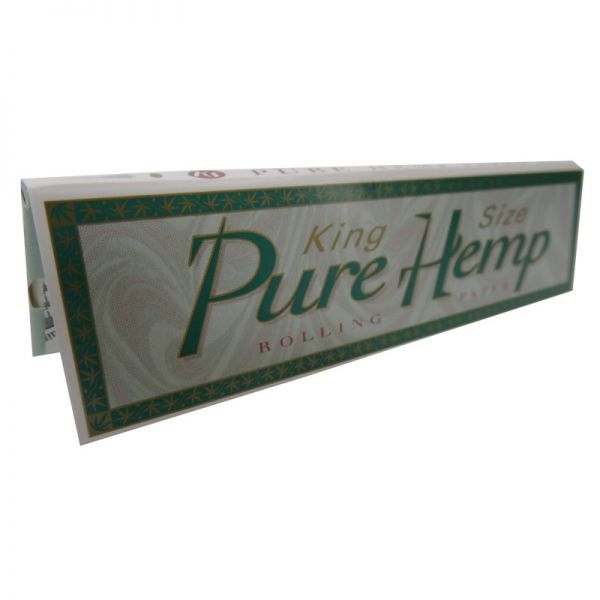 PURE HEMP ROLLING PAPERS, KING SIZE / PACK OF 33