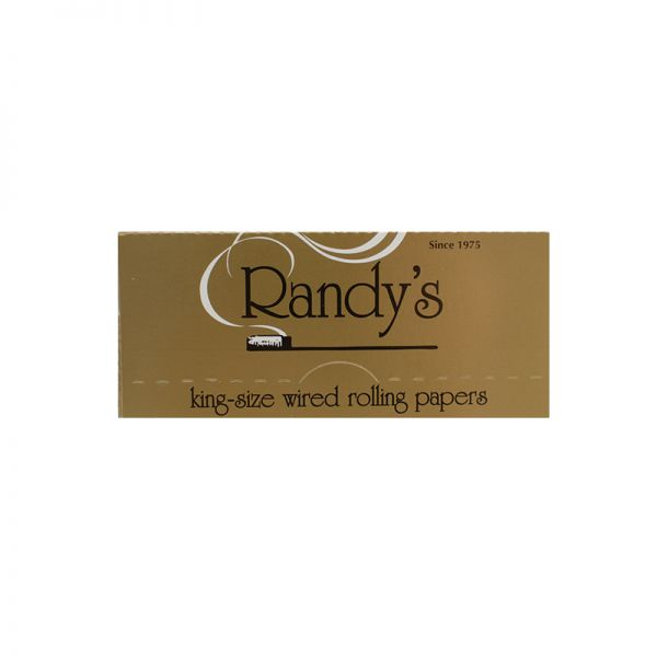 RANDY'S GOLD - WIRED ROLLING PAPERS - KING SIZE