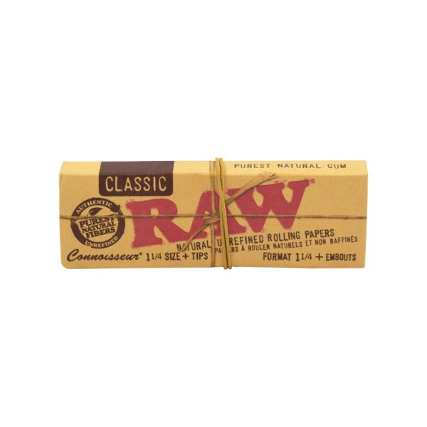 RAW CLASSIC CONNOISSEUR - 1 1/4 SIZE W/ TIPS