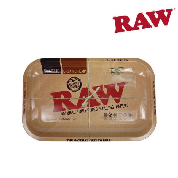 "RAW CLASSIC TIN ROLLING TRAY - SMALL 11"" x 7"""