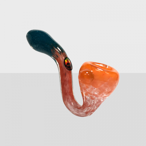 RED EYE GLASS - TRIPLE COLOUR  HAND PIPE - ORT