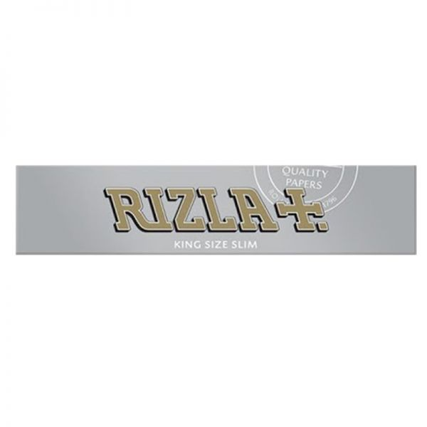 RIZLA SILVER - ULTRA THIN ROLLING PAPERS, KING SIZE SLIM / PACK OF 32