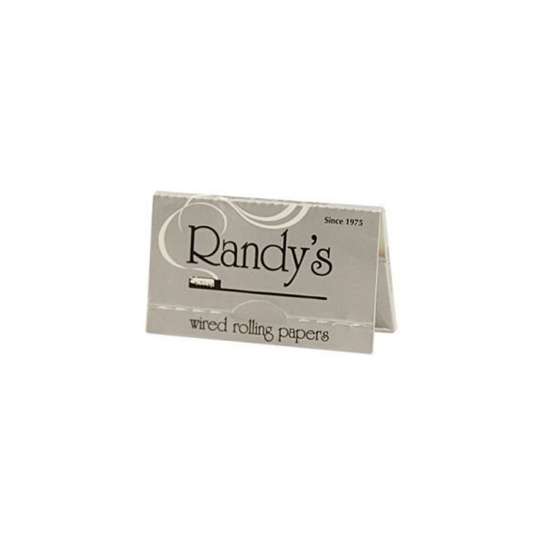 RANDY'S - SILVER / WIRED ROLLING PAPERS / PACK OF 24