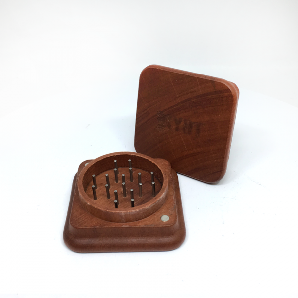RYOT - 1905 2-PIECE SQUARE MAGNETIC ROSEWOOD GRINDER