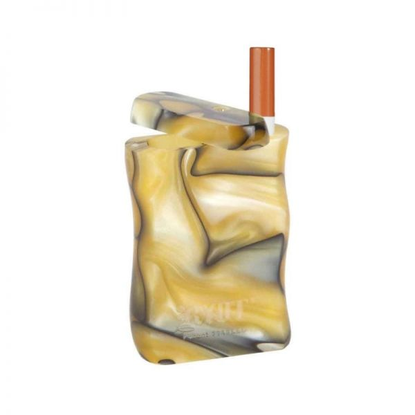 RYOT - SMALL ACRYLIC DUGOUT WITH ONE HITTER / YELLOW & BLACK