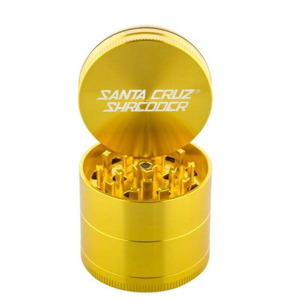 "SANTA CRUZ SHREDDER - 2.2"" MEDIUM ALUMINUM 4-PIECE GRINDER"