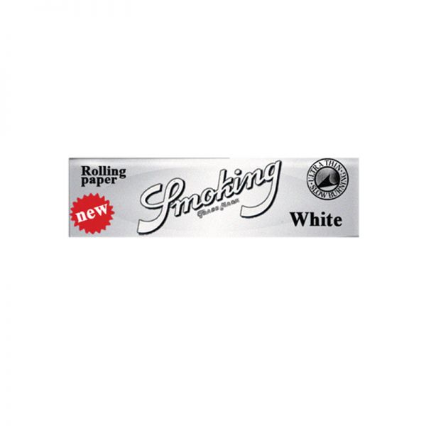 SMOKING WHITE - MEDIUM WEIGHT ROLLING PAPERS, 1 1/4 SIZE / PACK OF 50