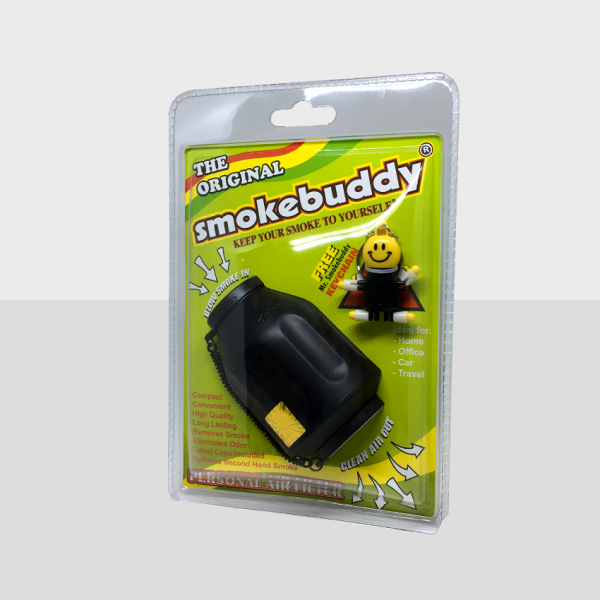 SMOKE BUDDY REGULAR - BLACK, PACK OF 1