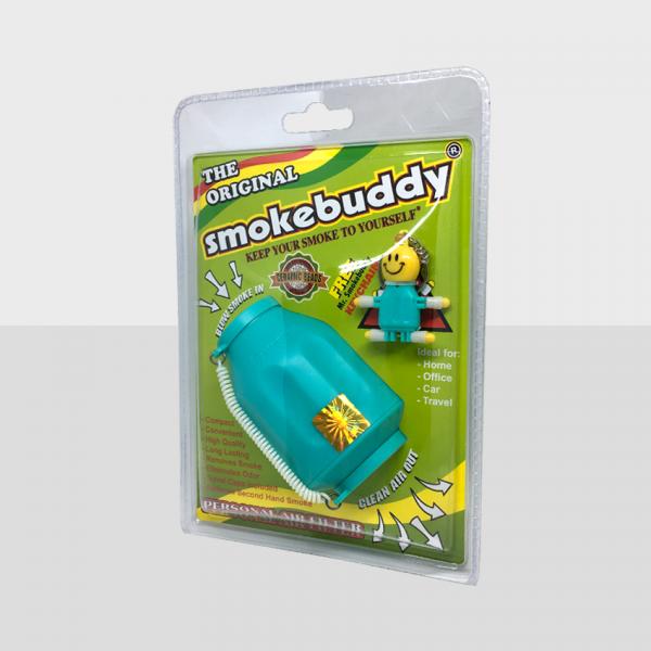 SMOKE BUDDY REGULAR - TEAL, PACK OF 1