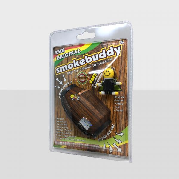 SMOKE BUDDY REGULAR - WOOD, PACK OF 1