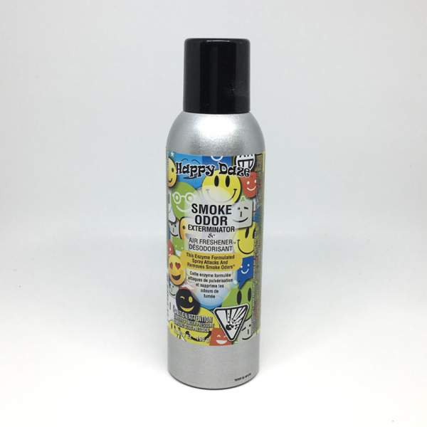 SMOKE ODOR - HAPPY DAZE / AIR FRESHENER SPRAY, BOTTLE OF 7oz