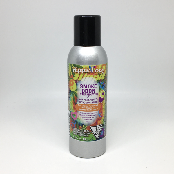 SMOKE ODOR - HIPPIE LOVE / AIR FRESHENER SPRAY, BOTTLE OF 7oz
