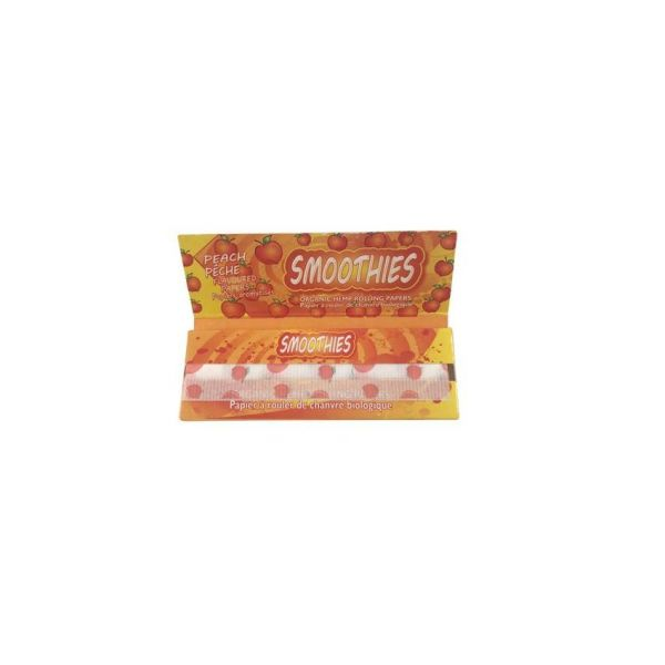 SMOOTHIES 1 1/4 ORGANIC HEMP PEACH FLAVORED ROLLING PAPERS