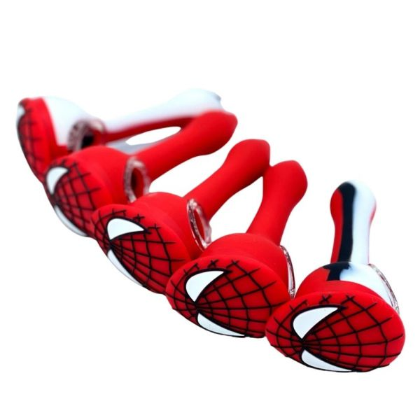 """4.7"""" SILICONE SPIDY HAND PIPE"""
