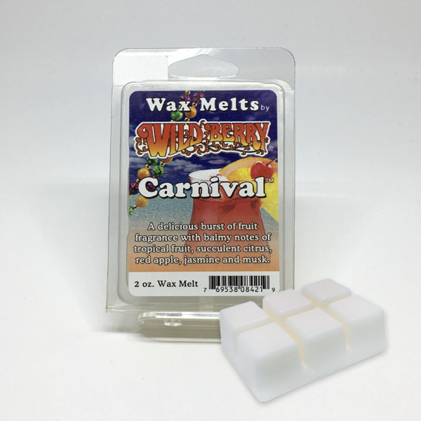 WILD BERRY - CARNIVAL WAX MELTS, PACK OF 6