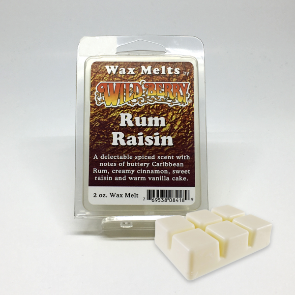 WILD BERRY - RUM RAISIN / WAX MELTS, PACK OF 6