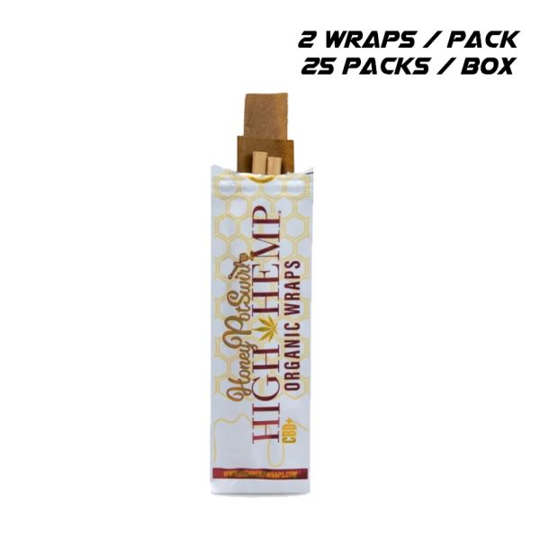 HIGH HEMP ORGANIC WRAPS - HONEY POT SWIRL / 25 PACKS