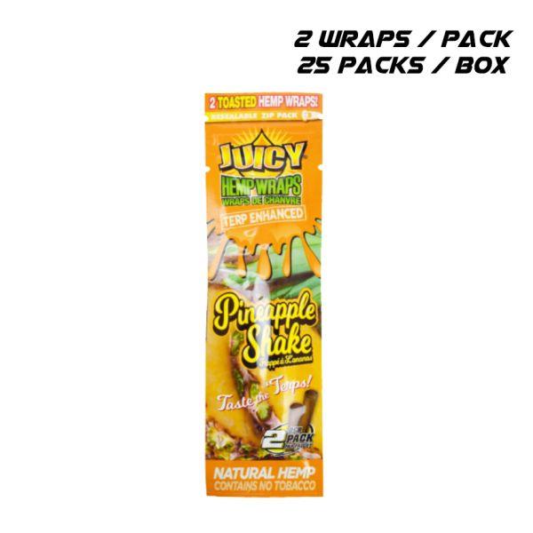 JUICY TERP ENHANCED HEMP WRAPS - PINEAPPLE SHAKE / 25 PACKS